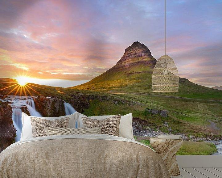 Beispiel fototapete: Kirkjufellsfoss von Menno Schaefer
