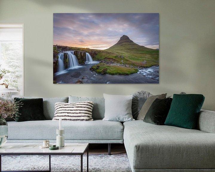 Sfeerimpressie: Kirkjufellsfoss van Menno Schaefer