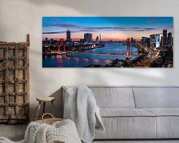 Rotterdam Skyline Maasbruggen von Midi010 Fotografie