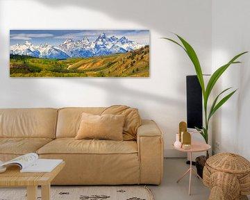 Panorama Grand Teton National Park, Wyoming van Henk Meijer Photography