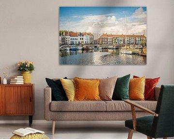 Schilderij van Middelburg van Bert Zuidweg