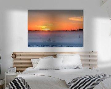 Sonnenuntergang in Lappland von Michel Kant