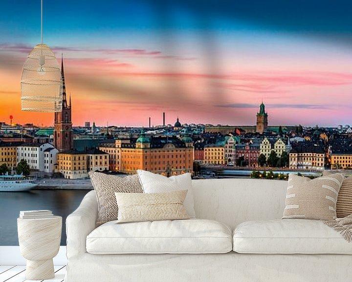 Sfeerimpressie behang: Stockholm Panorama van Adelheid Smitt