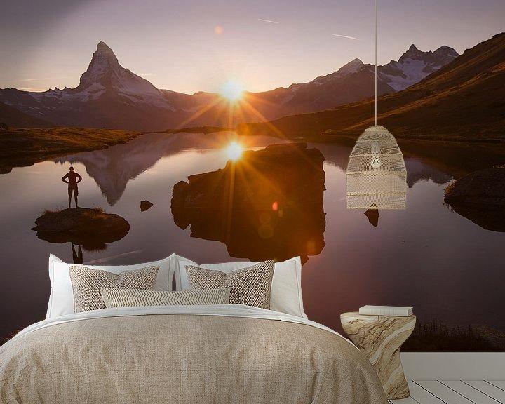 Beispiel fototapete: Abendstimmung am Matterhorn von Menno Boermans