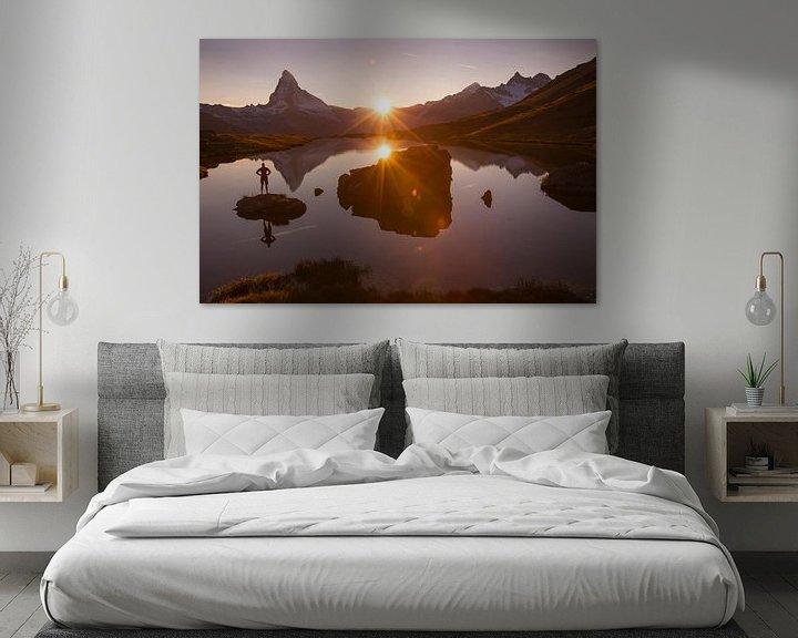 Beispiel: Abendstimmung am Matterhorn von Menno Boermans