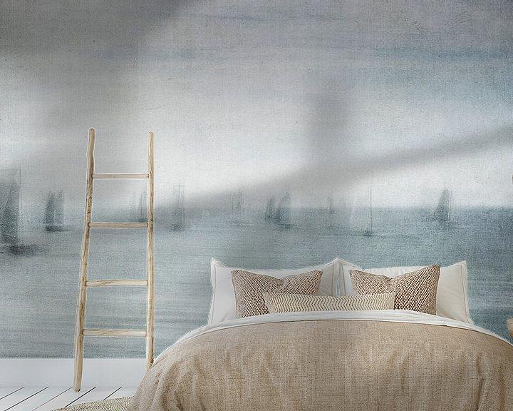 Sfeerimpressie behang: Mysterieuze vloot van Greetje van Son