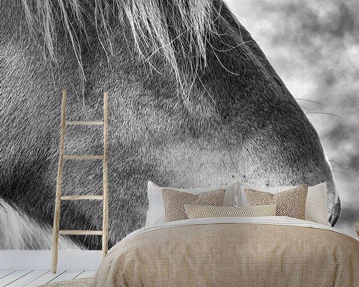 Sfeerimpressie behang: Cover the eye van Ruud Peters