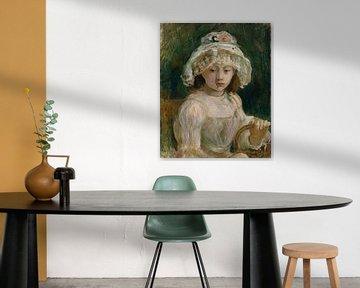 Junges Mädchen mit Hut, Berthe Morisot