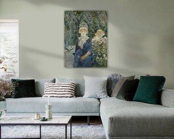 Frau in einem Garten, Berthe Morisot