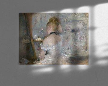 Rückenansicht einer jungen Frau in Festkleidung, Berthe Morisot