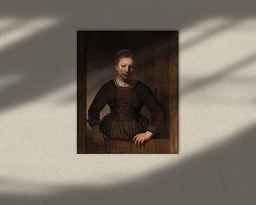Junge Frau an der Tür, Samuel van Hoogstraten