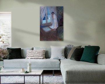 Das Mädchen am Fenster, Edvard Munch
