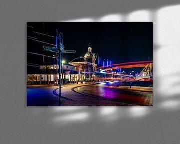 Altes Hafenamt und Hafen in Harlingen von Fotografiecor .nl
