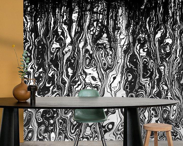 Sfeerimpressie behang: Spiegeling in water van Franke de Jong