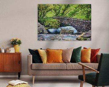 Stenen brug in Lake District