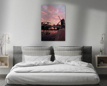 Zonsondergang Rijn