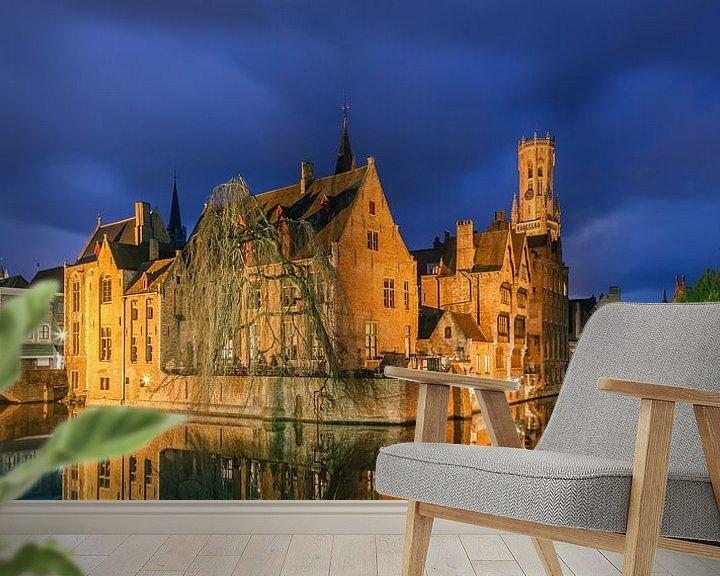 Beispiel fototapete: Die historische Stadt Brügge nach Sonnenuntergang von Henk Meijer Photography