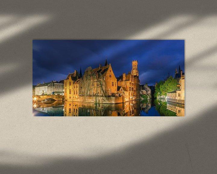 Beispiel: Die historische Stadt Brügge nach Sonnenuntergang von Henk Meijer Photography