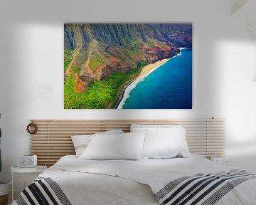 Hubschrauber-Blick auf die Küste von Napali, Kauai, Hawaii