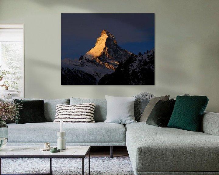 Beispiel: Goldenes Matterhorn von Menno Boermans