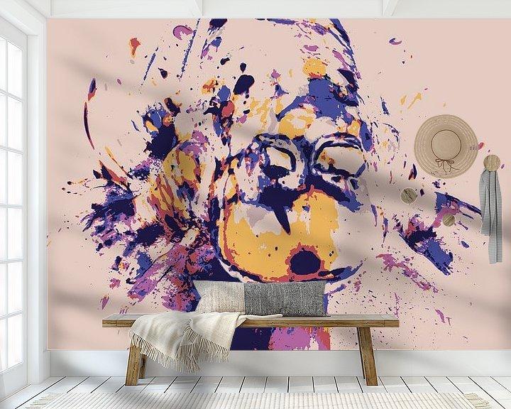 Sfeerimpressie behang: Kikker van Jon Houkes