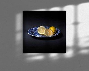 citroenen op Delfts Blauw van gelske kwikkel