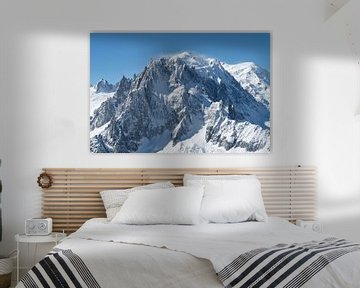 Le Mont Blanc, la plus haute montagne des Alpes.
