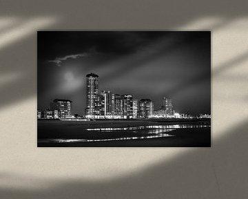 Vlissingen Skyline zwart-wit van Ingrid Van Damme fotografie