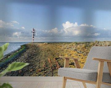 Kleurig najaar op de pier in Lauwersoog van Marnefoto .nl