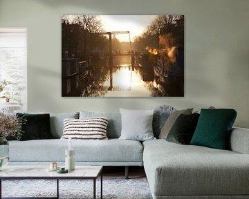 Winter Sunrise in Amsterdam van Dana Marin
