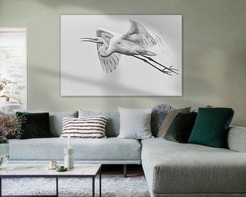 Fliegender Reiher von Art by Jeronimo