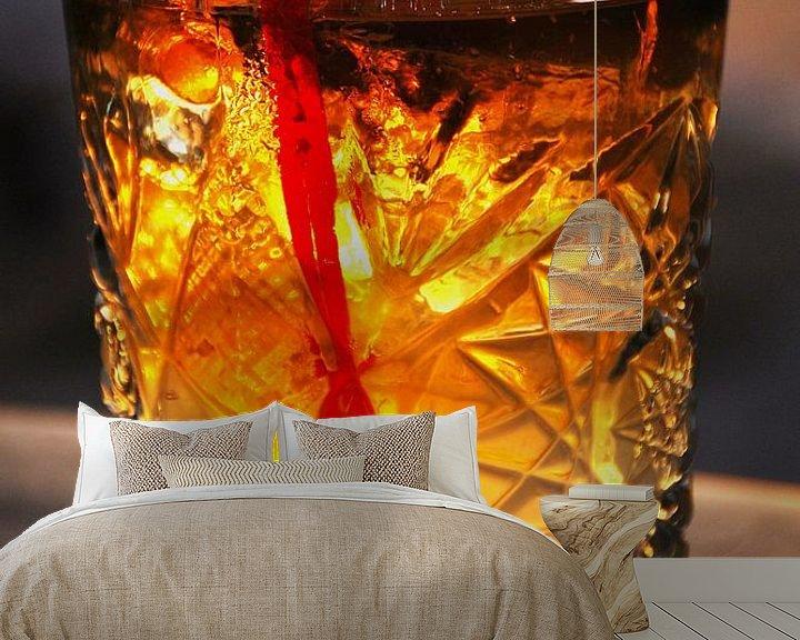 Sfeerimpressie behang: Cocktail in de avond bij de strandbar van Homemade Photos
