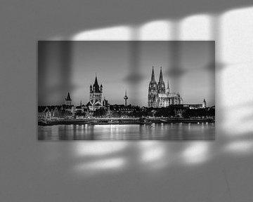 Wunderschönes Köln schwarz-weiß von Michael Valjak