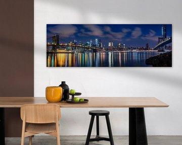 New York, Brooklyn Bridge van Remco Piet