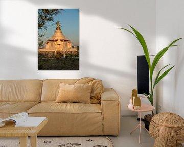 tempel op de top van een berg von Marcel Derweduwen