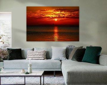 Sonnenuntergang am Meer van Heike Hultsch