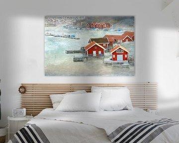 Fischerhäuser in Smögen van Heike Hultsch