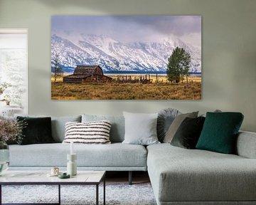 Mormon Row Barn, Grand Teton N.P, Wyoming.