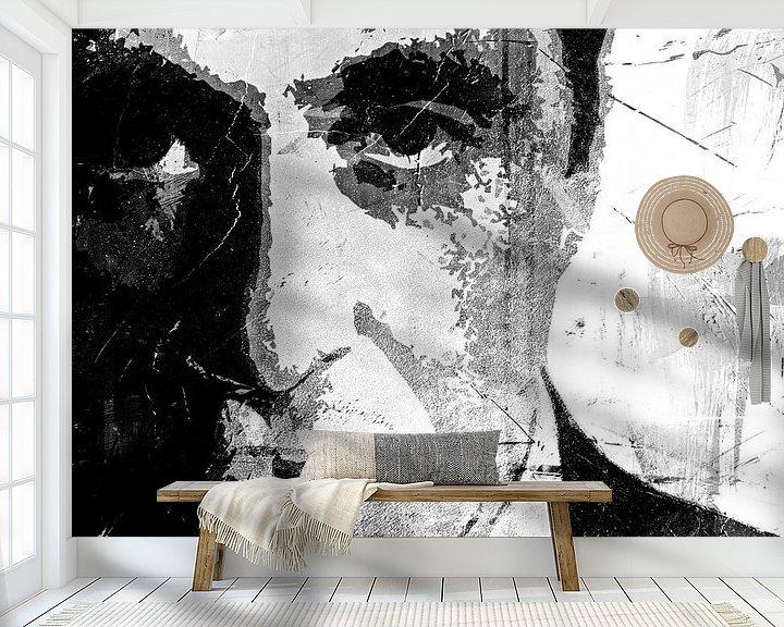 Beispiel fototapete: Al Pacino - The other Godfather - black and white von PictureWork - Digital artist