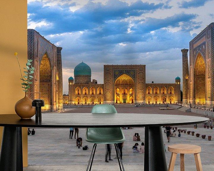 Sfeerimpressie behang: Registan Samarkand van Jeroen Kleiberg
