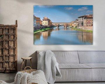 Florenz Ponte Vecchio. von Fotografie Arthur van Leeuwen