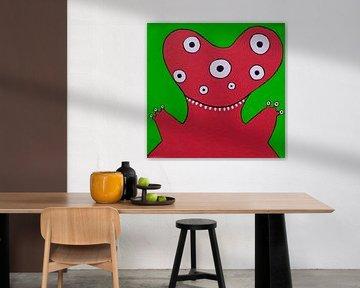 Rood Monstertje van Studio Fantasia