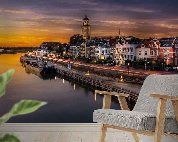 Sfeerimpressie behang: Zonsondergang in Deventer van Patrick Rodink
