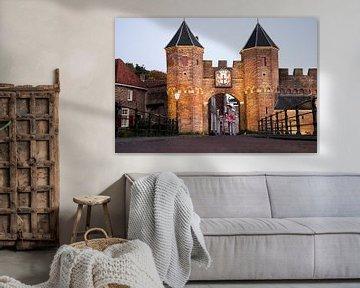 Koppelpoort is een stadspoort in Amersfoort. van Ton Tolboom