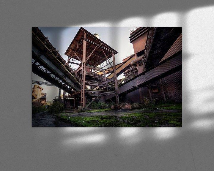 Sfeerimpressie: verlaten staalfabriek van Kristof Ven