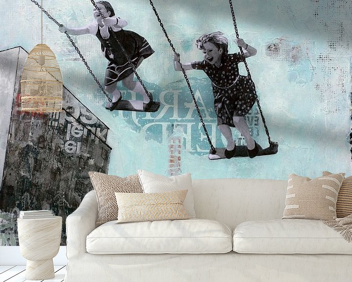 Sfeerimpressie behang: SATURDAY SWING (gezien bij vtwonen, weer verliefd op je huis ) van db Waterman