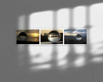 Collage: Glaskugeln von Norbert Sülzner