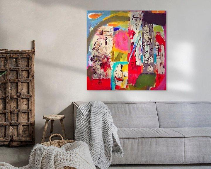 """Sfeerimpressie: Collage """"Zoeken naar betekenis"""" van Ina Wuite"""
