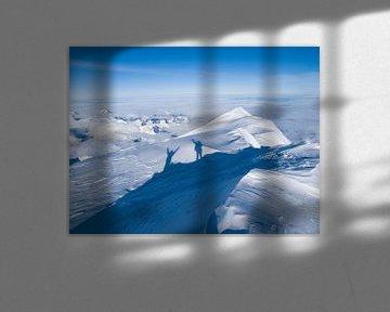 De top van Denali in Alaska