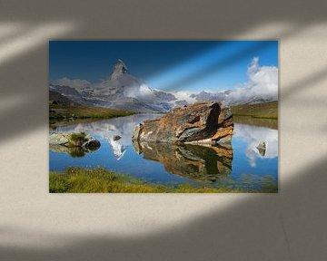 Reflet du Cervin sur Menno Boermans